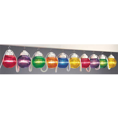 Globe String Lights - Polymer Products - 10 Shatterproof Globes - Multi-Colour