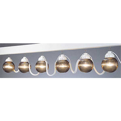 Globe String Lights - Polymer Products - 6 Shatterproof Globes - Bronze Colour