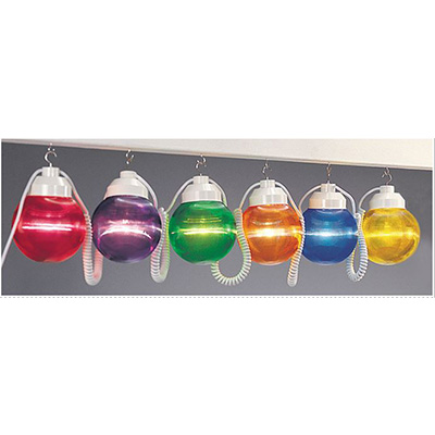 Globe String Lights - Polymer Products - 6 Shatterproof Globes - Multi-Colour