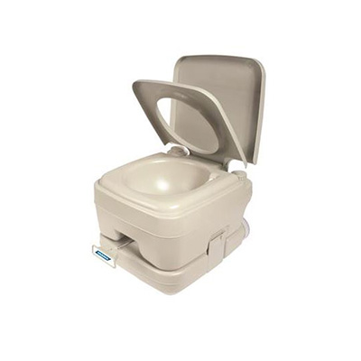 Portable Toilet - Camco Portable Toilet With Detachable Tank And Carry Handle - Beige