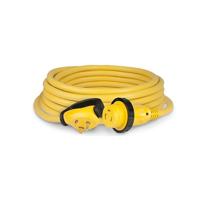 Power Cord - ParkPower Plus 30A Cordset With Lock Ring & LED Light 25'L