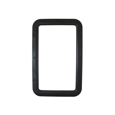 RV Entrance Door Window Frame - Valterra Interior Side Plastic Window Frame - Black