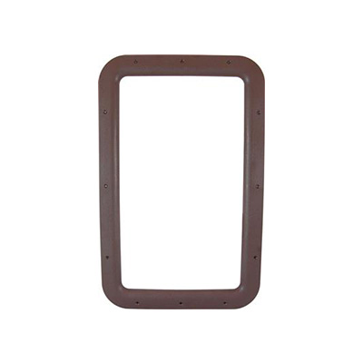 Entrance Door Window Frame - Valterra Interior Side RV Door Window Frame Brown