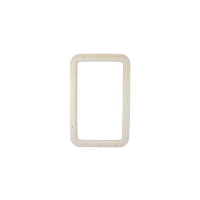 Entrance Door Window Frame - Valterra Interior Side RV Door Window Frame Ivory
