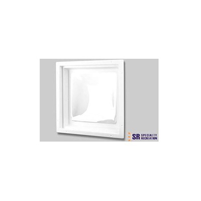 "RV Skylight - Specialty Recreation Interior Skylight Lens 32"" x 16"" x 4"" White"