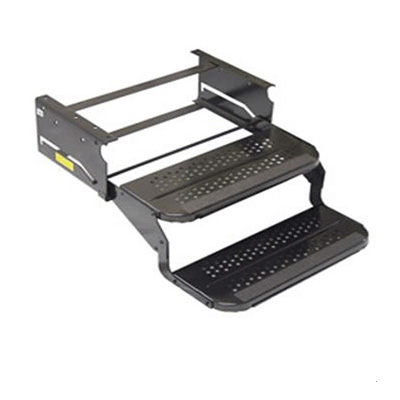RV Steps - Elkhart Tool & Die Double Camper Steps With Standard Shape Nose - 24