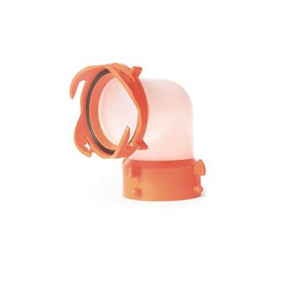 Sewer Hose Connector - RhinoFLEX Sewer Hose Elbow 90-Degree Semi-Translucent