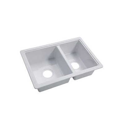 Kitchen Sink - Lippert Components Double-Bowl Plastic Kitchen Sink White