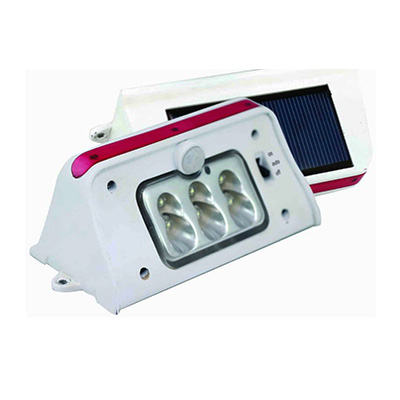 Solar Lights - Tri-Lynx LED Light With Solar Panel & Motion Sensor Grey