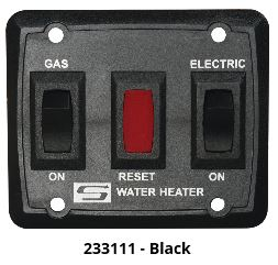 Water Heater Power Switch - Suburban DEL Model Water Heater Switch - Black
