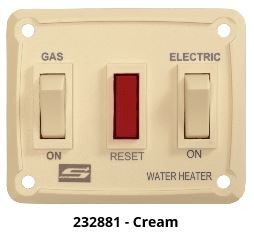 Water Heater Power Switch - Suburban DEL Model Water Heater Switch - Cream