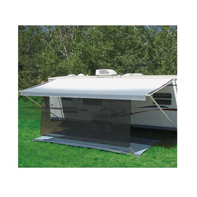 Awning Sun Block Panel - SunBlocker Awning Sun Block Panel 17'W x 6'H Black