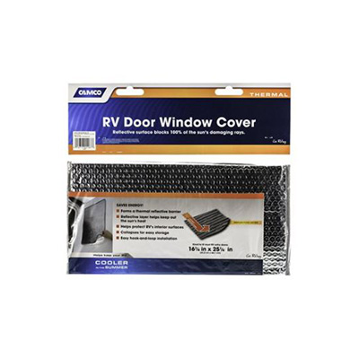 Window Cover - Camco Thermal Reflective RV Door Window Cover 16.25